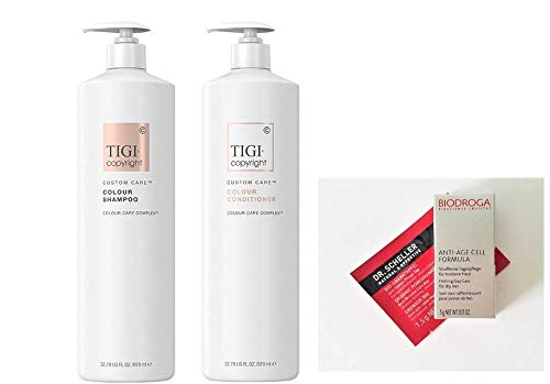 Tigi Copyright Colour Shampoo & Conditioner Liter Duo + 2 Free Samples