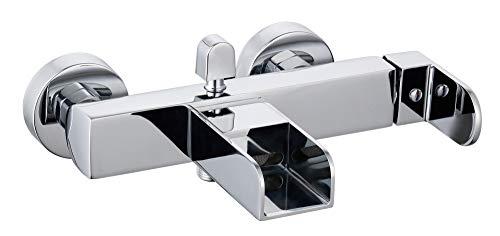 EISL NI023WCRL Wannenfüllarmatur Waterway, LED Wannenarmatur mit Schwallauslauf, Einhebelmischer, Chrom