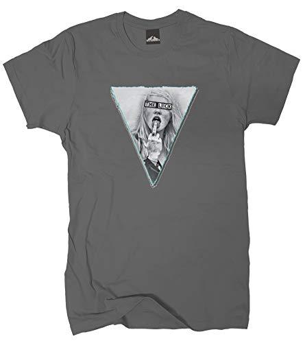 Wolkenbruch® T-Shirt The Lick Grunge, dunkelgrau, Gr.L
