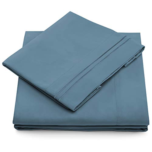 Cosy House Collection Queen Size Bed Sheets - Peacock Blue Luxury Sheet Set - Deep Pocket - Super Soft Hotel Bedding - Hypoallergenic - Wrinkle & Stain Resistant - Queen Sheets - 4 Piece