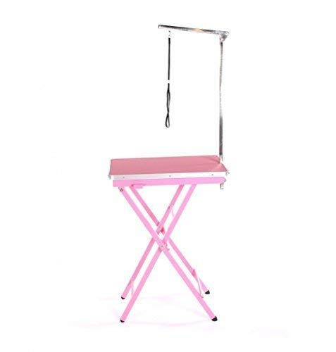 Pedigroom Portable Dog Grooming Show Exhibition Exhibitor Competition Table Pink