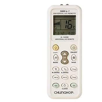 SODIAL(R) Aire Acondicionado de Control Remoto Mando a Distancia-Pantalla LCD Universal A/C Mando a Distancia para el Aire Acondicionado de K-1028E: Amazon.es: Electrónica