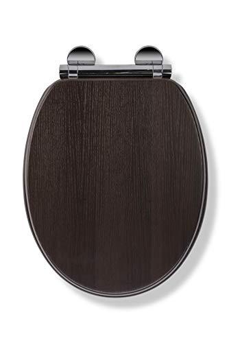 Croydex Montoro Sedile WC, Legno, Walnut Effect, Taglia Unica,