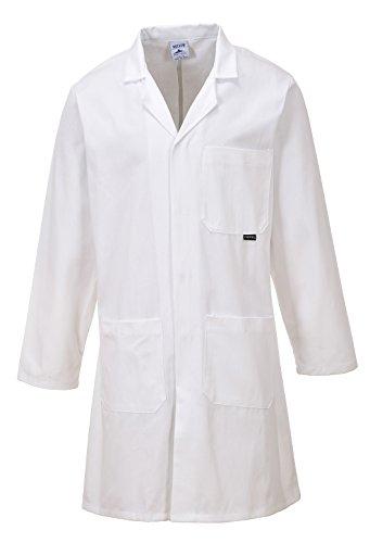 PORTWEST C851 Standaard mantel, 1 stuk, Medium, wit