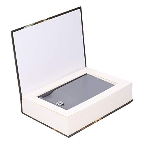 Caja de seguridad Caja de seguridad Caja de dinero Moneda Innovadora caja de bloqueo de libro simulado con llaves para efectivo Dinero Almacenamiento de joyas Espacio de almacenamiento Monedas de depó