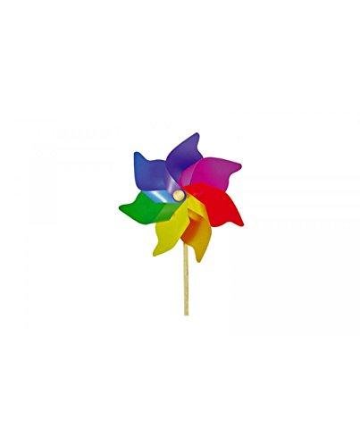 Extra Large Multi-coloured Rainbow Garden Windmill 110cm