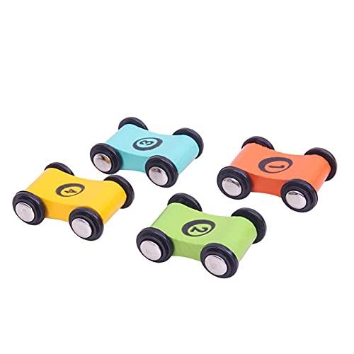 Juguetes para Bebés 4 Piezas De Juguetes para Niños Poleas De Madera Play House Carreras Interactivas Coches De Juguete De Madera para Niños Juguetes de los niños (Color : 1)
