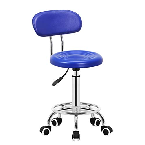 Rugleuning Stoel, Bar Draaien Staafteller Baliestoel Kassa Multifunctionele Adult Creative Household Stool (Color : Blue)
