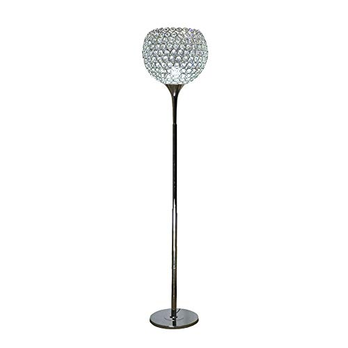 Cxwcy Simple Style Stehleuchte Moderne K9 Kristall Stehleuchte Wohnzimmer Schlafzimmer Nachttischlampe Study Fashion Stehleuchte Silberlampe Niedrige Stehlampe