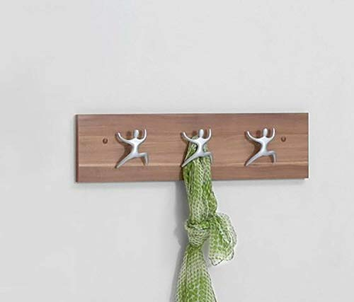 BJYX Garderobenhaken Garderobenleiste Wandgarderobe Kinderhaken 59 cm Nussbaum