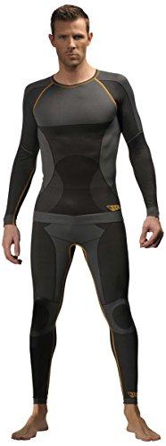 JCB Thermal ondergoed, lange mouwen, maat XL, zwart, 8007