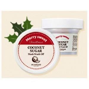 Skinfood Coconut Sugar Mask Wash Off Peeling mit Kokosnuss und granuliertem Zucker - Milde Peelingmaske für Männer und Frauen Gesichtsreinigung für trockene normale fettige Haut 60g