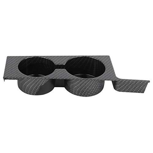 Soporte de almacenamiento de tazas, cómodo tacto táctil Material de ABS de alta calidad Portavasos de consola central, para mantenimiento de automóviles Reparación de(Carbon pattern)