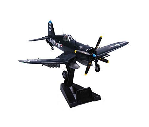 JHSHENGSHI 1/72 Militärflugzeuglegierungsmodell, WWII USA F4U-4' Fighter Finished Model, Kinderspielzeug und Sammlerstücke