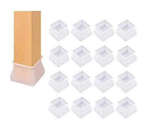 Juego de 16 tapas de silicona para patas de sillas de muebles, fundas de silla #04