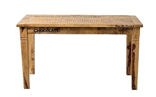 SIT-Möbel Rustic 1914-04 Tisch, ca. 4 Sitzplätze, aus Mangoholz, Antik, braun, Wortprints, 140 x 76 x 70 cm