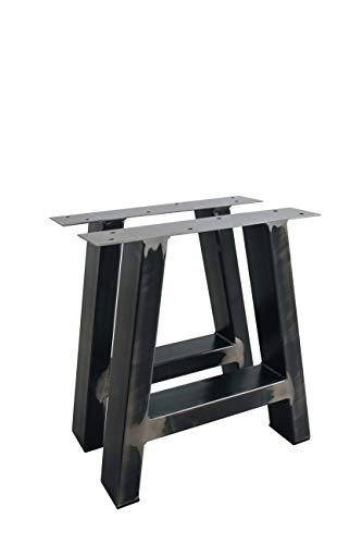 1 Paar (2 Stück) BestLoft ® A-Kufen - Transparent beschichtete Tischkufen A-Form im Industriedesign Tischuntergestell Kufengestell (T10cmxB80cmxH72cm, Transparent)