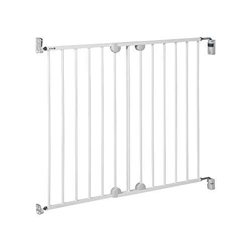 Safety 1st Wall Fix Extending - Barrera de seguridad de metal, color blanco