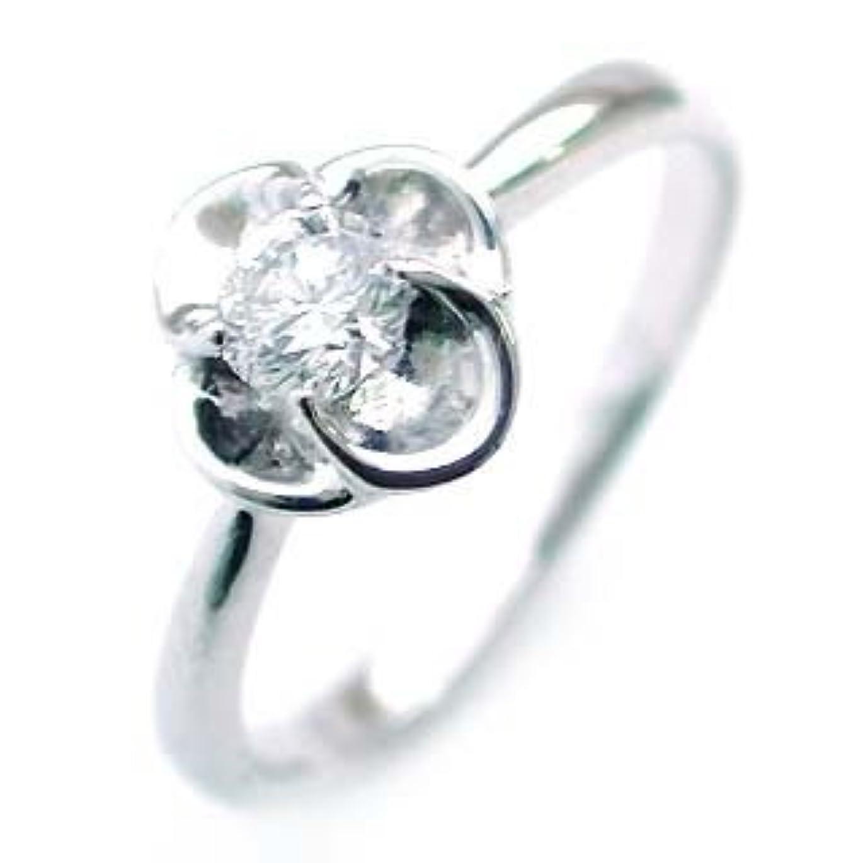 マイクロ電話をかける袋(K18ホワイトゴールド) ダイヤモンドリング #15