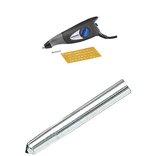 Dremel 7,200 Stroke Per Minute Engraver includes Letter and Number Template with Engraver Diamond Point Bit