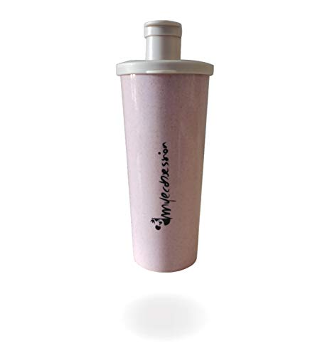 MyEcobsession Wheat Straw Protein Leak-Proof Shaker 500 ml - with Mixing Ball - BPA Free (Pink)