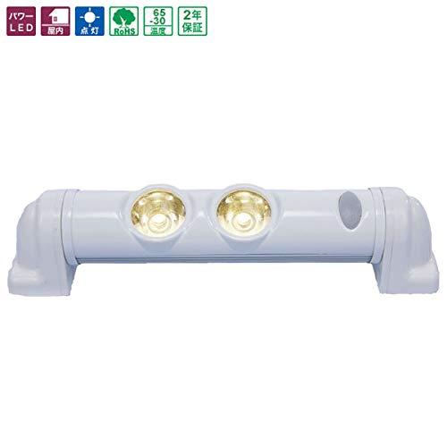 車載用 LED室内照明灯 白 室内用リーディングライト NY901S型 LED2個 パワーライト アジャストタイプ(露出型) NY901S-2D 日恵製作所