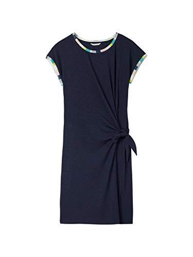 Sandwich Damen Kleid mit Knotendetail
