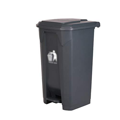 Cubos de reciclaje Clasificación de botes de basura, la basura de plástico puede Médico Comercial de alta capacidad con la cubierta de basura bote de basura al aire libre pueden multifunción HeWHui