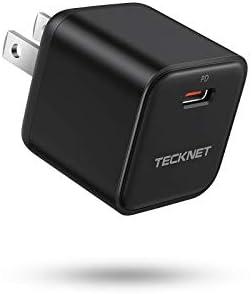 TeckNet Mini PD 3.0 20W USB C Wall Charger Adapter (Black)
