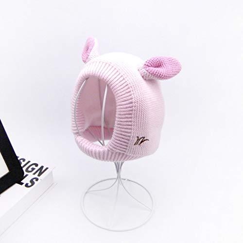 ZYSWP MZWJTZKD New Baby Sombreros 3 Tamaños 1-3 años Niños Niñas Sombreros Niños Otoño Otoño Hats Bonnet Enfant Sombrero para Niños Bebé (Color : Pink, Size : Small)