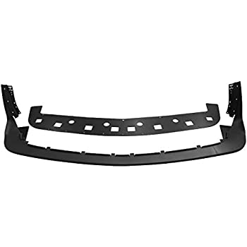 IKON MOTORSPORTS Front Bumper Lip Compatible With 15-20 Dodge Challenger Hellcat Models Hellcat Style Unpainted Black PP
