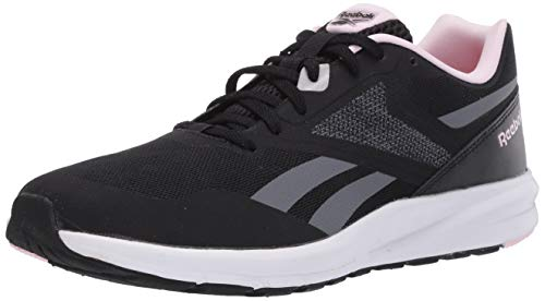 Reebok Women's Runner 4.0 Running Shoe, Black/Cold Grey/Pixel Pink, 8 M US