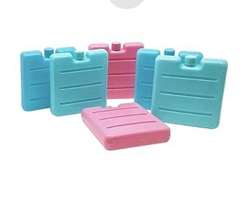 Lot de 6 Mini Blocs réfrigérant, Min Pains de Glace pour Camping, Voyage, Travail, Plage