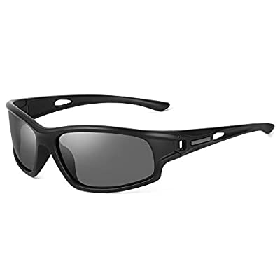 WZERRY Men's Polarized Sports Sunglasses UV400 Protection for Cycling Driving Fishing Unbreakable TR90 Frame