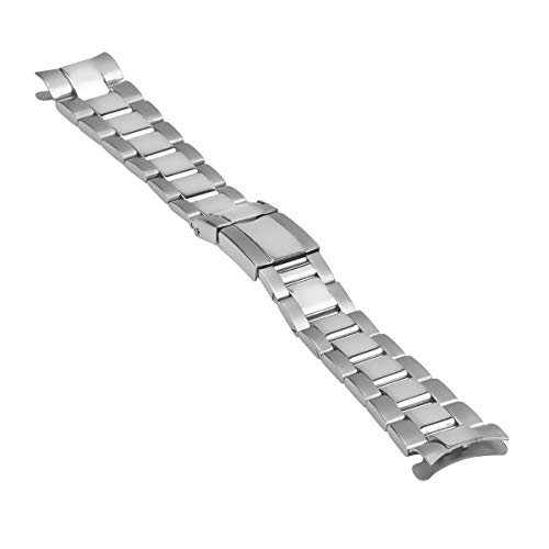 Oyster Watch Band Stainless Steel Compatible with Rolex Daytona 116520 116523 Shiny/Center