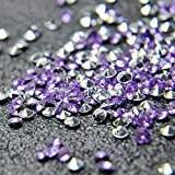 Briliant Shop 4.5mm Acrylic Color Faux Round Diamond Crystals Treasure Gems for Table Scatters, Vase Fillers, Event, Wedding, Arts & Crafts (10000 pcs) (Lavender & Silver)