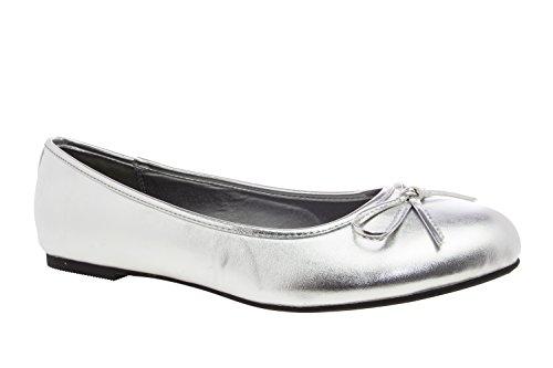 Andrés Machado - Bailarinas de Mujer con Mini tacón y Lazo Decorativo - ESTG104 - Loafer para Mujer - Zapatos Muy cómodos - Amplia diseños – Tallas Grandes de 41 hasta 46