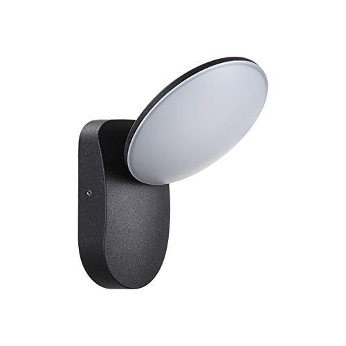Lin-Yo Lampada da Parete LED Plafoniera Soffitto Moderna Impermeabile Rotonda 5W 3000K IP54 Illuminazione per Esterni e Interni - Nero
