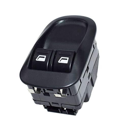 JIEIIFAFH Frente Coche Interruptor Ventana Botón del Motor de Control Maestro for Peugeot 206 306 6554.WQ (Color : Black)