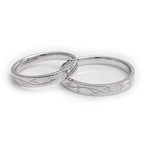 [ココカル]cococaru ペアリング シルバー リング2本セット マリッジリング 結婚指輪 日本製 (レディースサイズ20号 メンズサイズ11号)