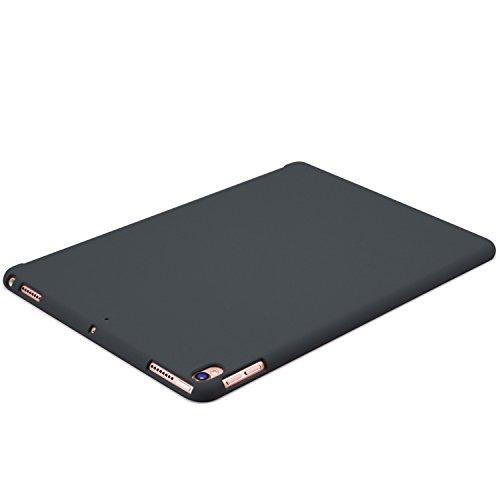 KHOMO iPad Air 3 10.5 (2019) / iPad Pro 10.5 (2017) Rückseite Abdeckung Case Hülle Schutzhülle Kompatibel mit Smart Cover und Testatur - Dunkelgrau