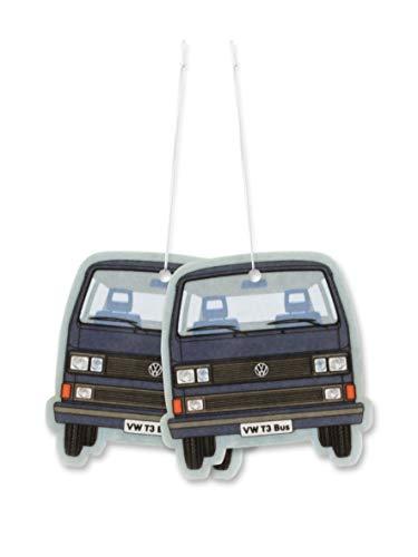 Brisa VW Collection - Volkswagen Hippie Bus T3 Camper Van Deodorante per Auto, Profumo per Ambiente, Diffusore di fragranza, Purificatore, Accessorio per Macchina (Sport Fresh/Blu) - Set da 2 Pezzi