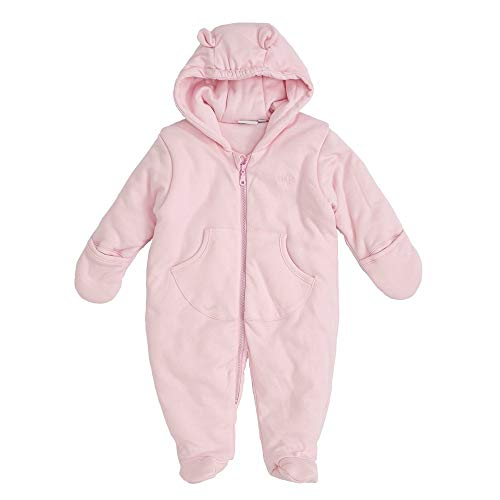 Feetje Combinaison matelassée pour bébé avec capuche, gants et pieds variables - Rose - 6 mois