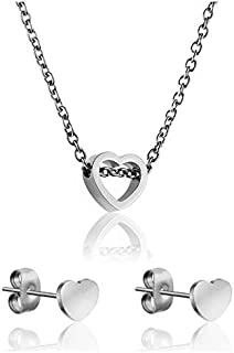 Emily Westwood Stainless Steel Necklace & Earrings Set - WS020S