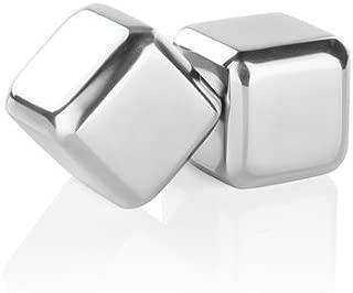 Viski 3426 Glacier Rocks Stainless Steel Cubes, 2