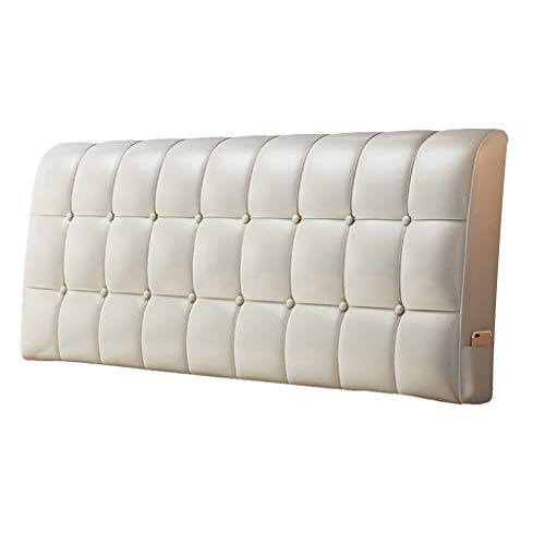 KDAB Modern Classic Leather Headboard Extra Large Size 19 Colors 120cm (Color : 15, Size : Without headboard)