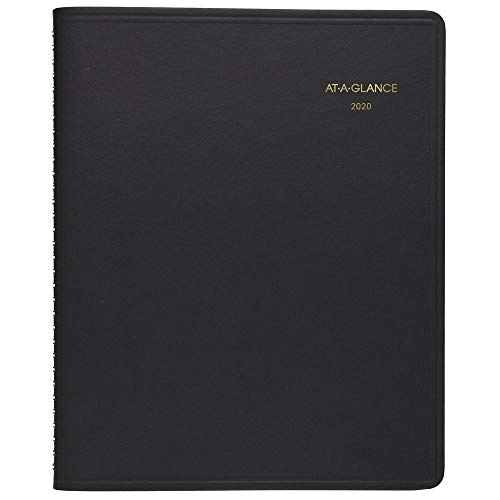 AT-A-GLANCE 2020 Daily Planner/Appointment Book, 8-1/2' x 11', Large, 24 Hour, Black (7021405)