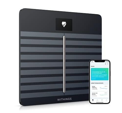 Withings/Nokia Body Cardio - Báscula Wi-Fi con composición corporal y salud cardiovascular