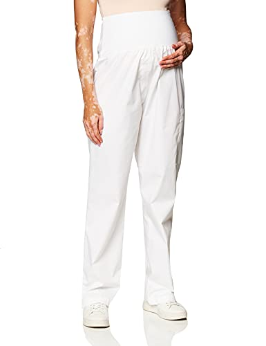 WonderWink Women's WonderWORK Maternity Pant, White, X-Small