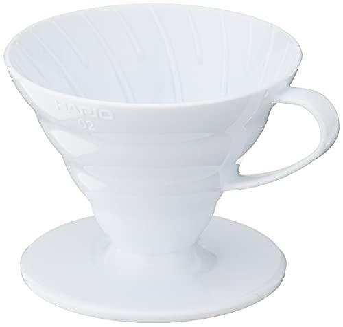 Hario V60 Plastic Coffee Dripper, Size 02, White